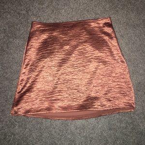 Going out miniskirt rose gold express short skirt